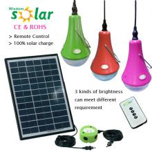 Top venta de control remoto dirigido Mini Kits de luz Solar con cargador USB