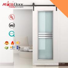 ASICO Solid Wood Interior Sliding Glass Barn Door For Interior