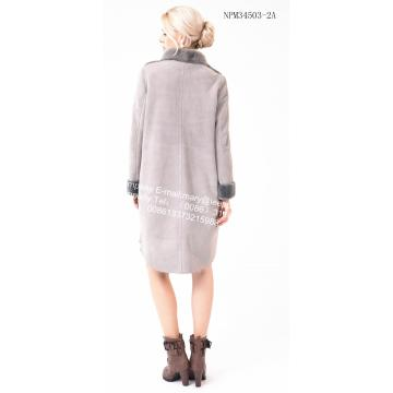 스페인 숙녀 Merino Shearling Coat Wite Flower