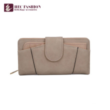 HEC 2018 New Design Ladies PVC Leather Wallet Hand Purse For Women