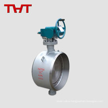 Double eccentic stucture power full hand welded types of butterfly valves