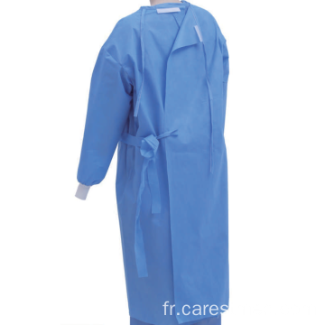 Blouse chirurgicale médicale jetable SMS 45-55GSM
