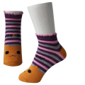 Orange bandes chaussettes de fille