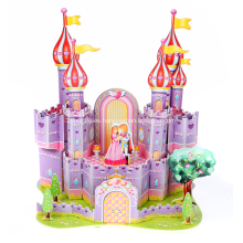 Rompecabezas 3D Castillo de púrpura
