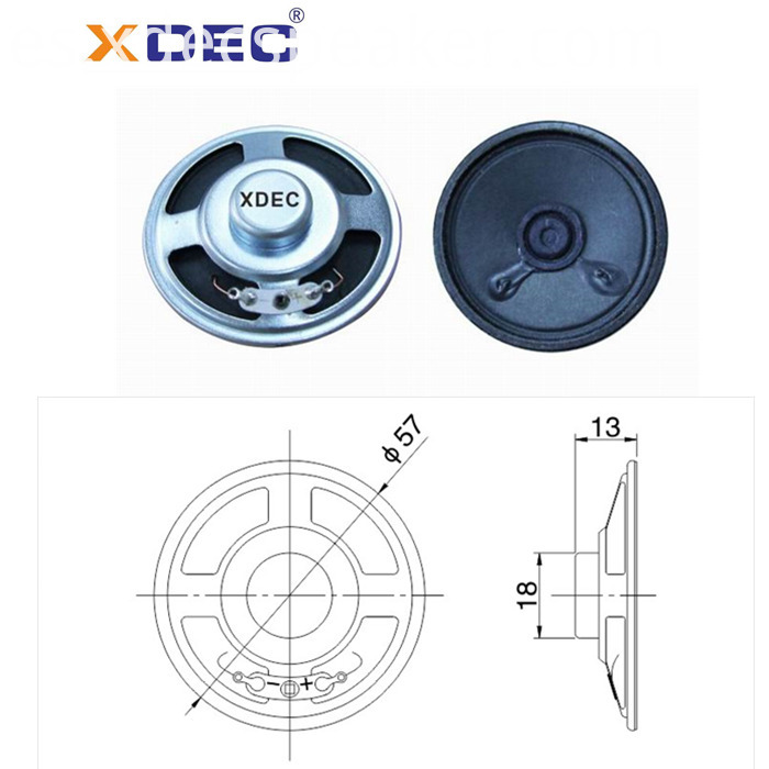 57mm 8ohm loud sound siren Speaker