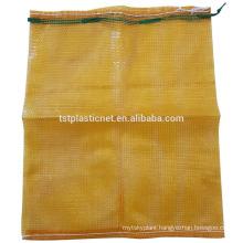 PP mesh bag golden yellow color 52*83cm use for potato onion corn