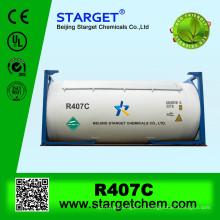 Смешанный газ R407c в продаже в ISO TANK