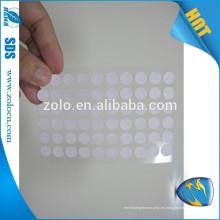 Adhesivo de seguridad sensible a la humedad para productos eléctricos