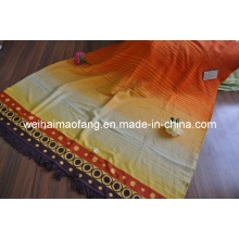 Woven Cotton and Polyester Blended Throw (NMQ-CPT006)