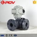 Soquete de plástico UPVC válvula de esfera motorizada 3 vias