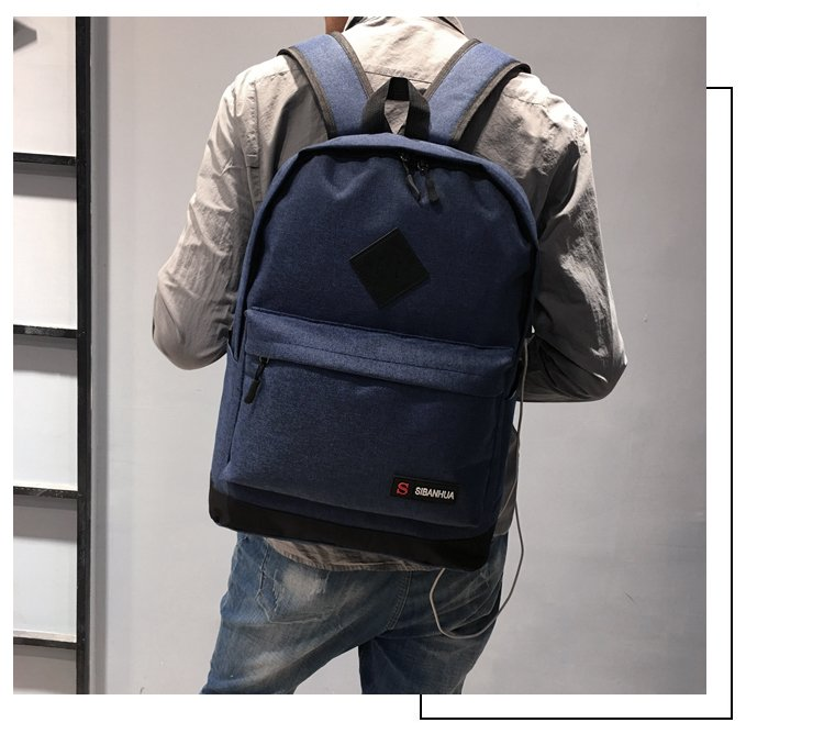 New man usb backpack