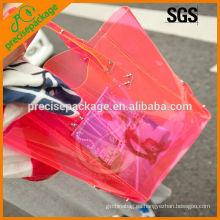 La bolsa de asas impermeable de moda de la playa del PVC claro para hacer compras