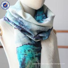 Chinesische Tuschemalerei Traditionelle Kultur Jacquard Digitaldruck 100% Wolle Schal SWW785