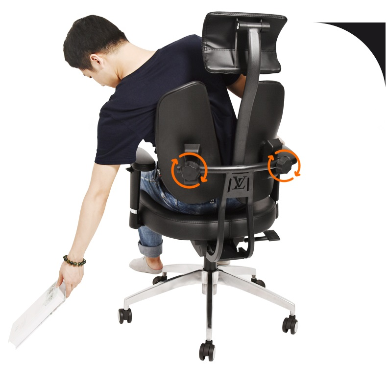 Dual-Back Ergonomic Office Chair (3)