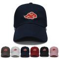 Bonés bordados 3D Bonés de beisebol Snapback Red Clouds