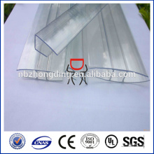 perfil de conector de chapa de policarbonato impermeable (U & H)