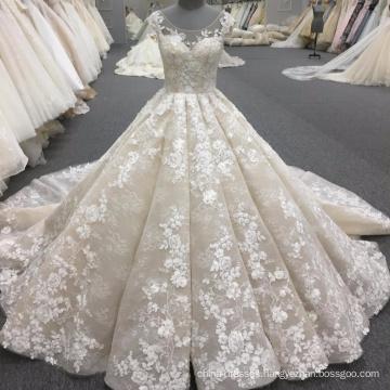 Alibaba high quality women ball gown luxury wedding dress 2017 WT340