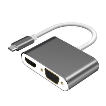 HUB USB3.0 Tipo C para HDMI (4K) e adaptador USB-C