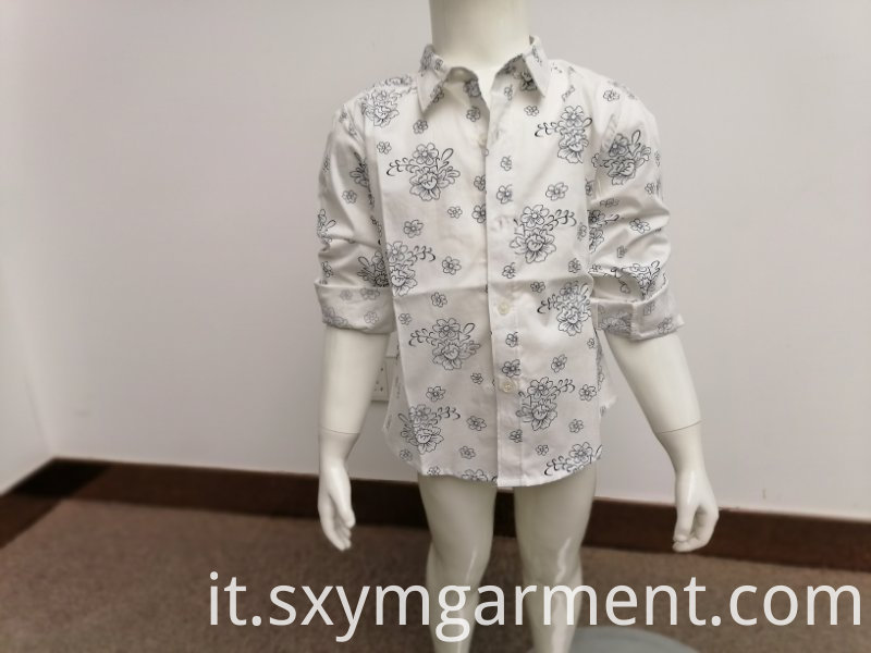 Boy's cotton spandex shirt