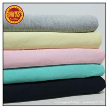 Pano de bebê usado tecido de malha 100 costela de algodão, tecido manguito costela