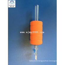 """Tattoo New Disposable 1"""" (25mm) Orange Rubber Grips with Transparency Tip Tg-R25-94"""