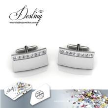 Destino joias cristal de Swarovski senhor Matt 1 botões de punho