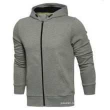 Custom Dri Fit Plain Fleece Full Zipper Hoodie Without Logo