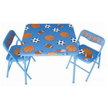 Children Metal Folding Table Backrest Chairs for Sale