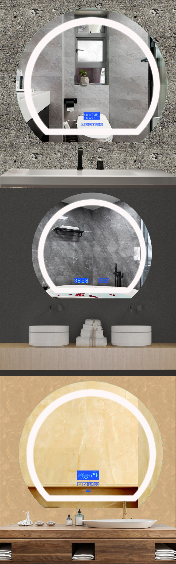 Application Light Up Wall Mirror
