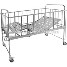 Hospital o hogar cuidado material de acero inoxidable cama para niños