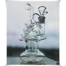 Hb-K49 Recycler Perc Double Helical Leiter Form Glas Rauchen Wasser Rohr