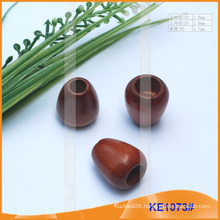 Fashion wooden cord end or bead for garments KE1073#
