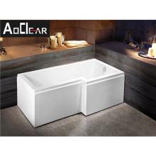 Aokeliya 1500mm japanese style back to wall corner bathtub with drain for bath
