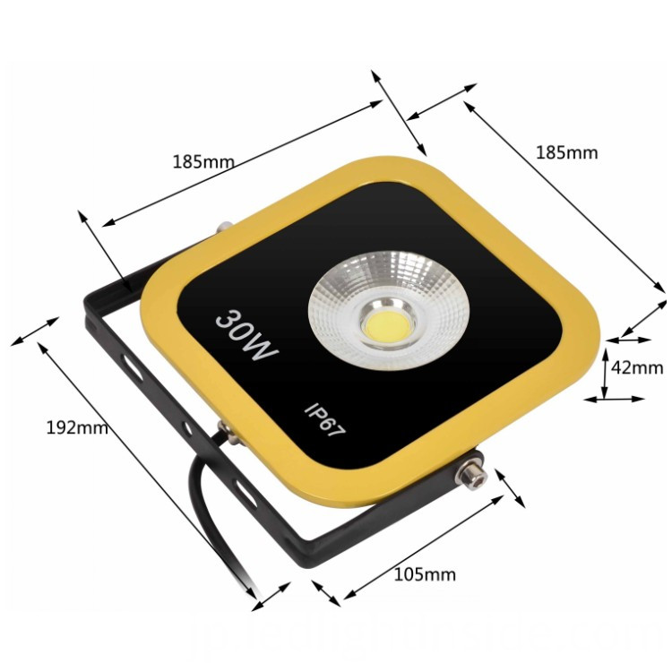 30W LED FLOOD LIGHTING SIZE
