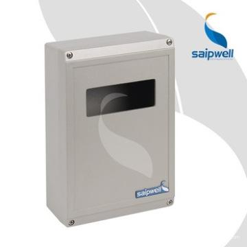 Boîtier en aluminium de boîte en aluminium imperméable IP67 IP66 pour l'industrie électrique avec fenêtre en plastique