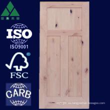 1/2/3/5 Panel Shaker Alder Puerta de madera maciza
