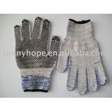 PVC-punktierter Handschuh für Maschine