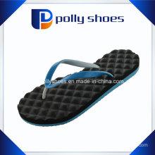 New Womens Black & Blue Flora Thong Flip Flop Sandals