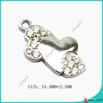 Liga de zinco bent coração charme jóias fazendo
