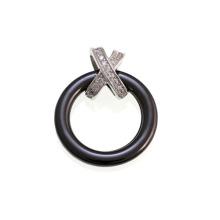 Pingente de prata de cerâmica e esterlina para o presente (p20104)