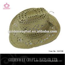 Chapéu de sol de cowboy de palha quente