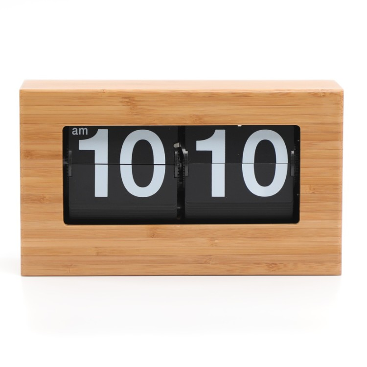 Bamboo Case Flip Clock