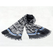Moda feminina 100 algodão listrado cachecol