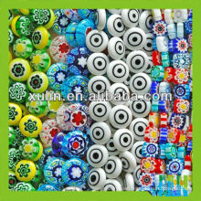 factory price mixed color and many shapes millefiori glass beads