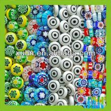 Preço de fábrica cor misturada e muitas formas contas de vidro millefiori