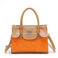 New Style Colorblock PU Leather Ladies Shoulder Bag (ZXS0034)