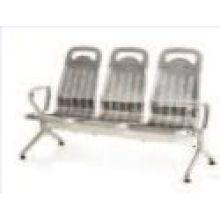 Chaise d'attente en acier inoxydable pour hôpitaux avec 3 sièges