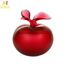 Frasco de vidro de perfume com perfume de mulher de maçã