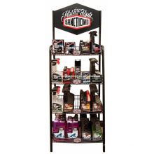 Floor Metal Rack Engine Oil Retail Shop 4-Layer Motor Oil Advertising Lubricating Oil Display Shelf