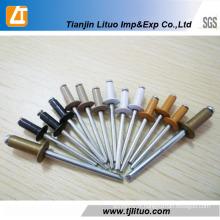 Aluminium de tête de dôme DIN7337 à extrémité ouverte / rivets aveugles en acier